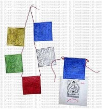 Natural paper prayer flag 9 (Packet of 5 string)