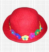 Flower felt hat 1