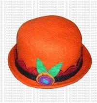 Flower felt hat 2