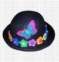 Flower felt hat 4