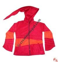 Swirl hooded jacket