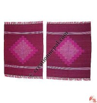 Dhaka dining table mats-maroon (set of 6)