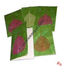 Plain Bodhi leaf patch cards 1 (packet of 5)