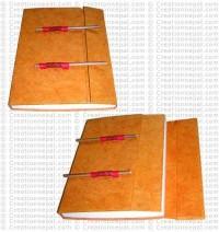 2-stick design folding notebook