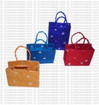Handmade Lokta paper gift bags (packet of 12)