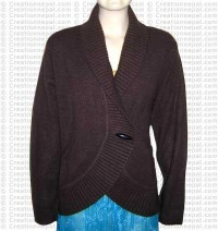 Cross design Pashmina sweater