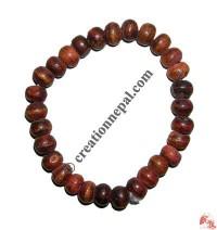 Plain brown bone beads wristband