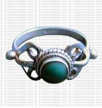 Turquoise stone finger ring 11