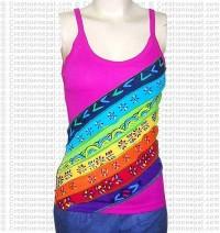 7-stripes rainbow rib t-shirt