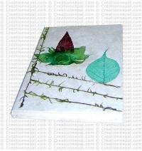 Bodhi leaf-moss- flower notebook