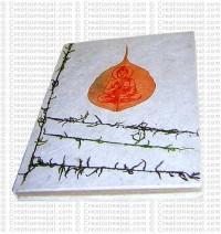 Buddha print Bodhi leaf notebook