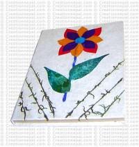 Paper flower notebook
