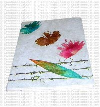 Leaf and flowers notebook-2