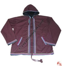 Shama plain hooded jacket1