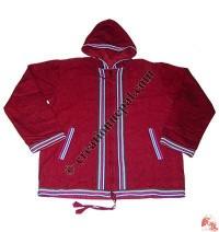 Shama plain hooded jacket2