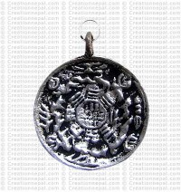 Tiny calendar pendant