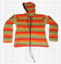 Kids woolen stripes jacket