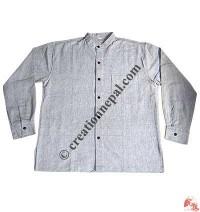 Shyama cotton round neck plain shirt-grey