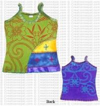Crochet design printed t-shirt
