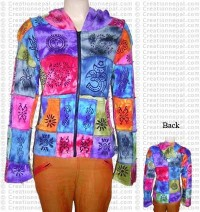 Multi-print multi-color hooded top