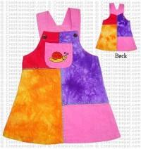 Patch-work kids Dungaree dress2