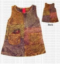 Stone-wash cotton dress