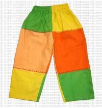 Patch-work kids trouser