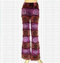 Stonewash-printed rib trouser