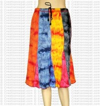 Umbrella botton mid-length skirt