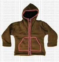 Kids size woolen plain jacket
