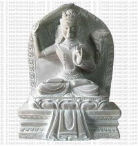 Manjushree - 8'' stone statue