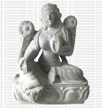 Green Tara - 8'' stone statue