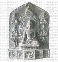 Buddha life - 11'' stone statue