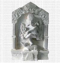Dancing Ganesh - 10'' Stone statue