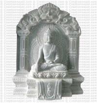 Shakyamuni Buddha - 12'' stone statue