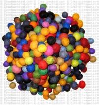 2 cm assorted felt balls (packet of 1000 balls)