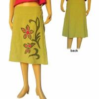 Crochet flower patch skirt