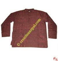Mantras prints cotton shirt4
