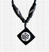 Endless knot square amulet