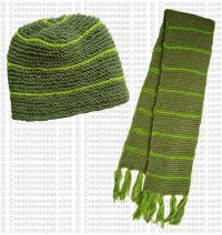 Opposite knit set of 2 (hat and scarf)