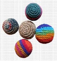 Hemp-cotton juggling balls