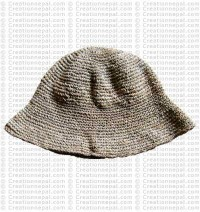 Hemp brim hat1