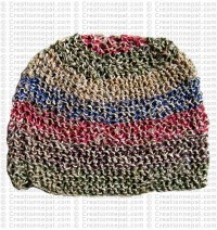 Hemp-cotton crochet hat17