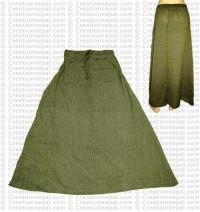 Plain color joined skirt-Green