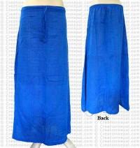 Plain color joined skirt-Blue
