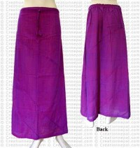 Plain color joined skirt-Purple