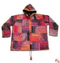 Shama cotton patch-work jacket