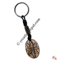 Bone carved key chain 27