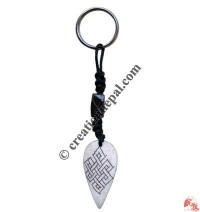 Bone carved key chain 35