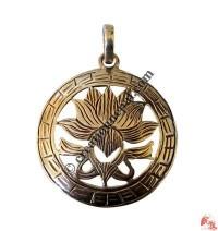 Auspicious Lotus silver pendant